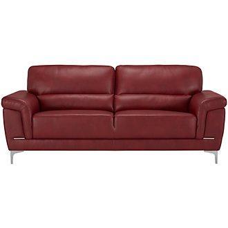 Enzo Red Microfiber Sofa