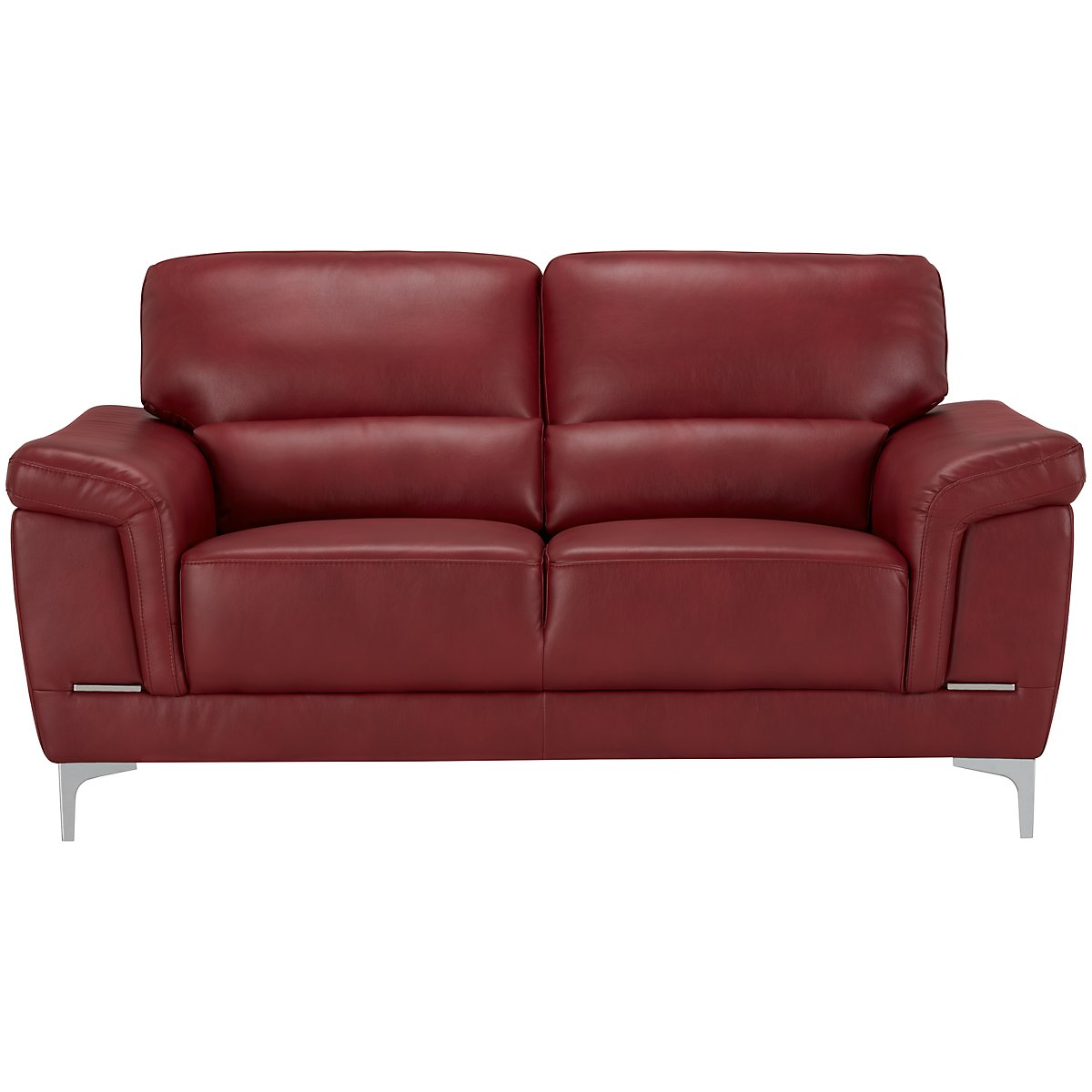 City Furniture Enzo Red Microfiber Loveseat