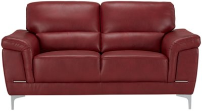Image Of Enzo Red Microfiber Loveseat With Sku:3870118