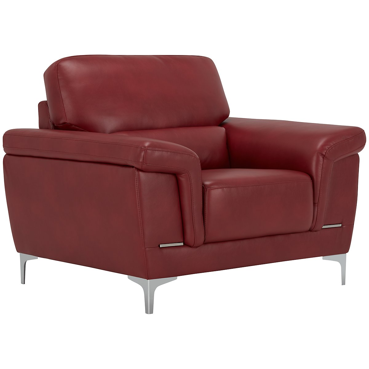 Enzo Red Microfiber Chair