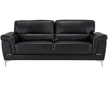 Enzo Black Microfiber Sofa