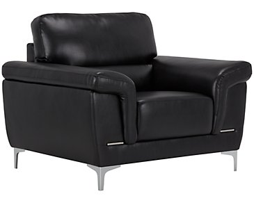 Enzo Black Microfiber Chair