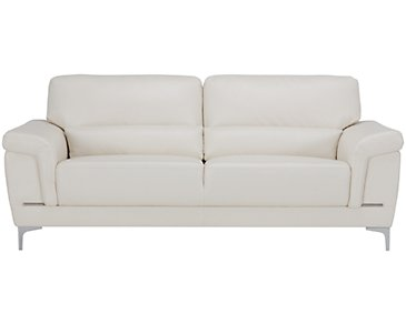 Enzo Light Taupe Microfiber Sofa