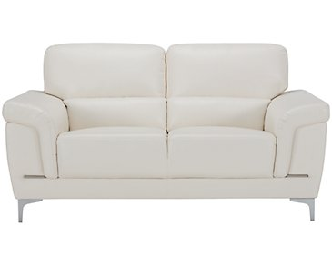 Enzo Light Taupe Microfiber Loveseat