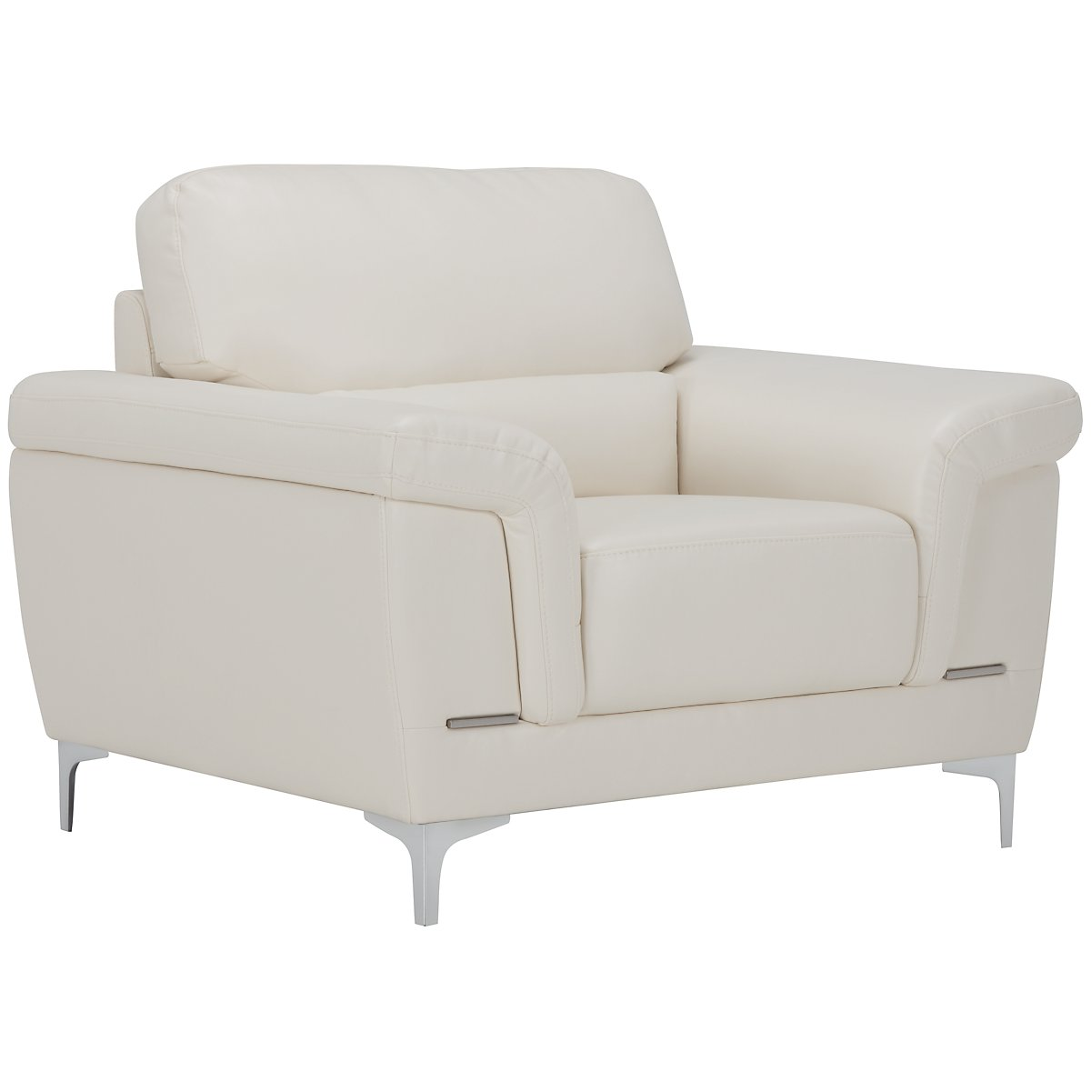 Enzo Light Taupe Microfiber Chair