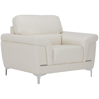 Enzo Light Taupe Microfiber Chair