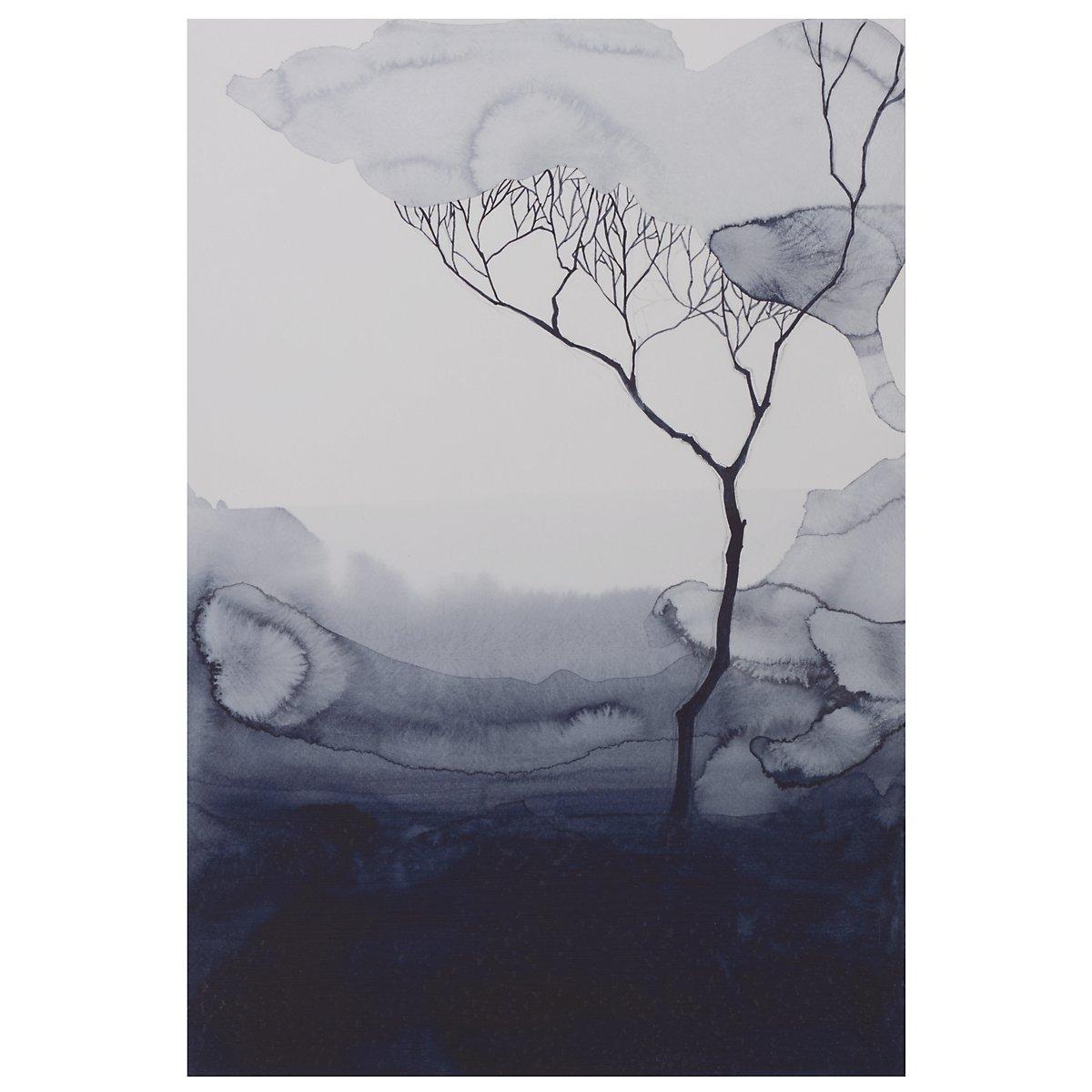 Root I Dark Blue Canvas Wall Art