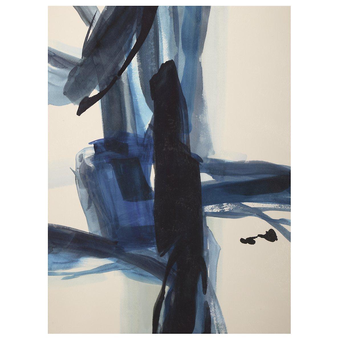 Strap I Dark Blue Canvas Wall Art