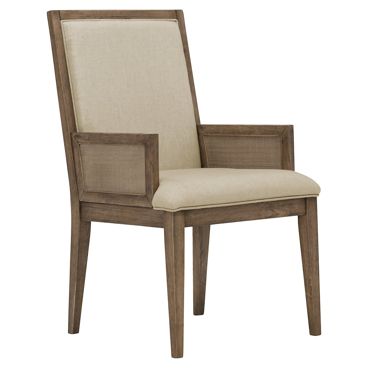 Mirabelle Light Tone Upholstered Arm Chair