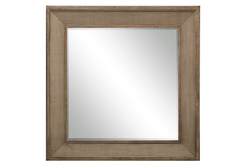 Mirabelle Light Tone Woven Accent Mirror
