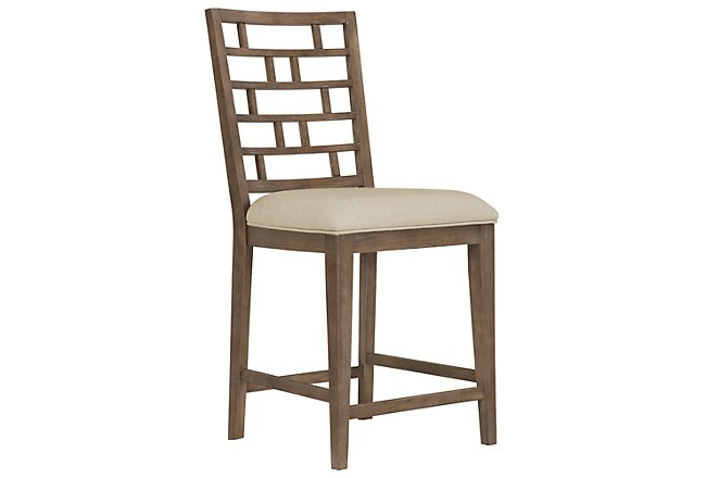 Mirabelle Light Tone Wood 24 Barstool