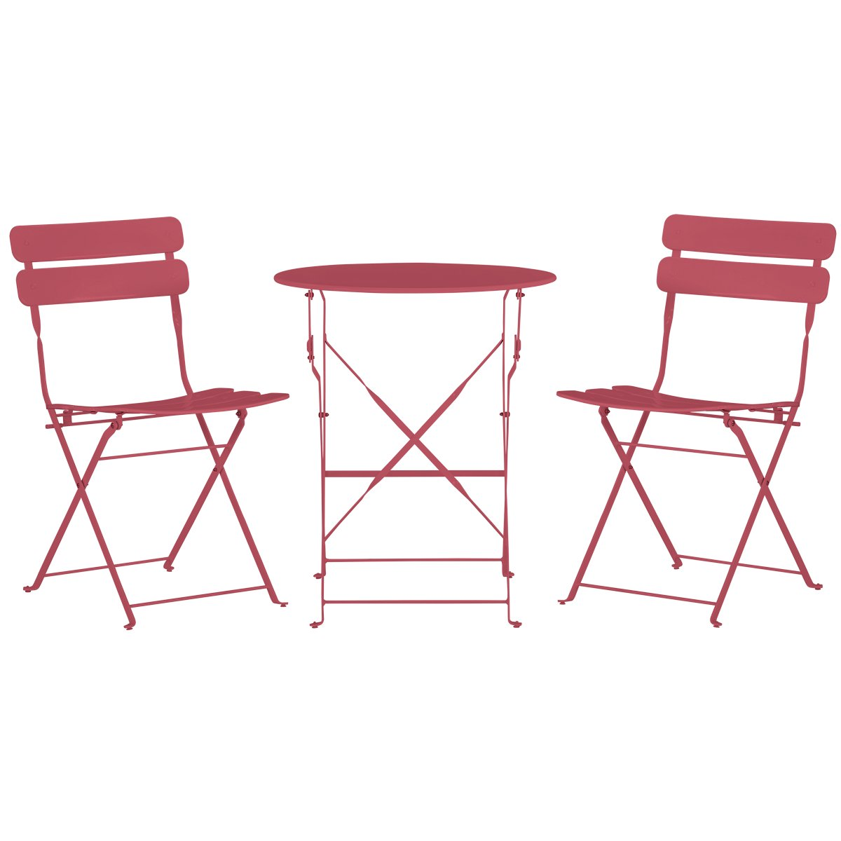 Roma Pink Round Table & 2 Chairs