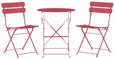 Roma Pink Round Table U0026 2 Chairs