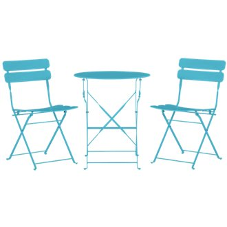 Roma Blue Round Table & 2 Chairs