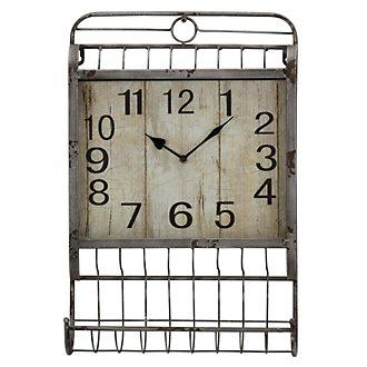 Janel Metal Rectangular Wall Clock