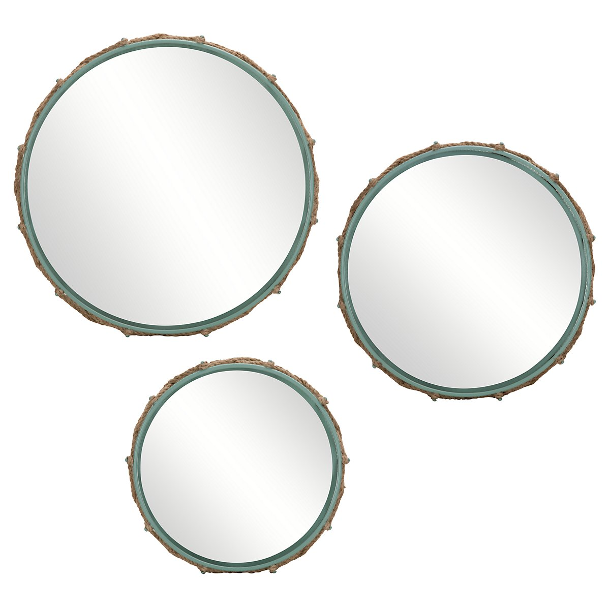 Gavin Light Blue Set Of 3 Mirror