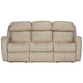 Finn Light Beige Microfiber Reclining Sofa