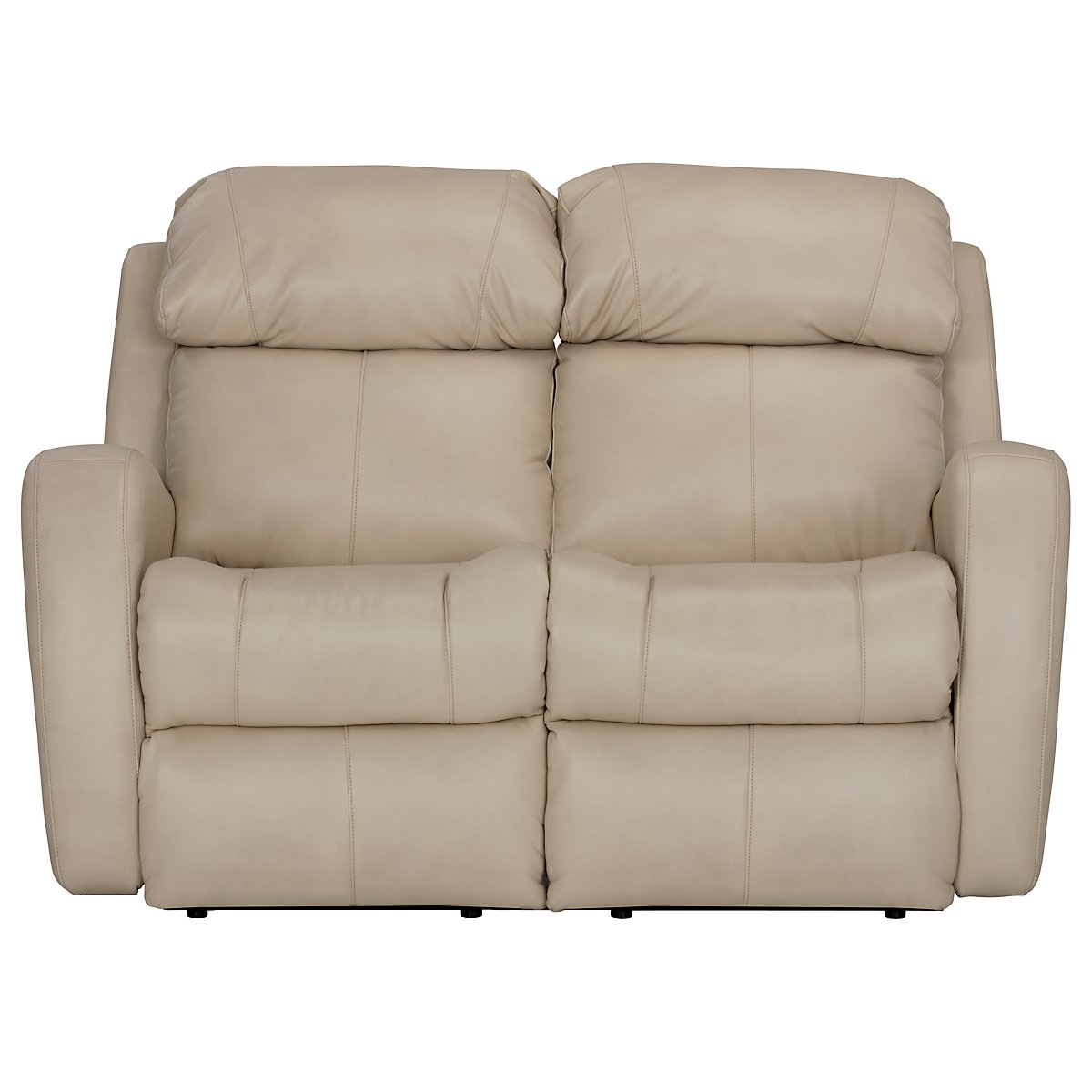 Finn Light Beige Microfiber Micro Reclining Loveseat