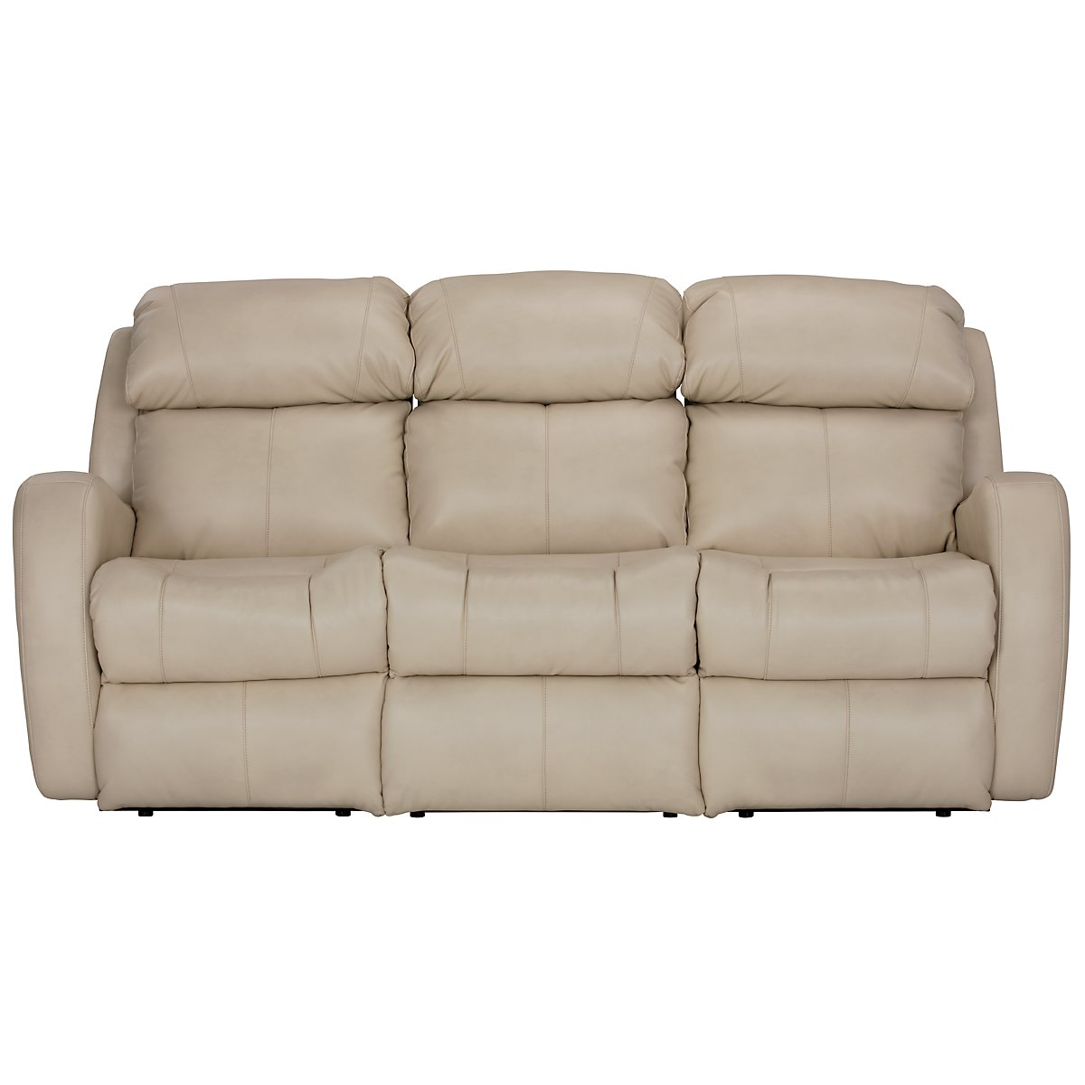 Finn Light Beige Microfiber Micro Power Reclining Sofa