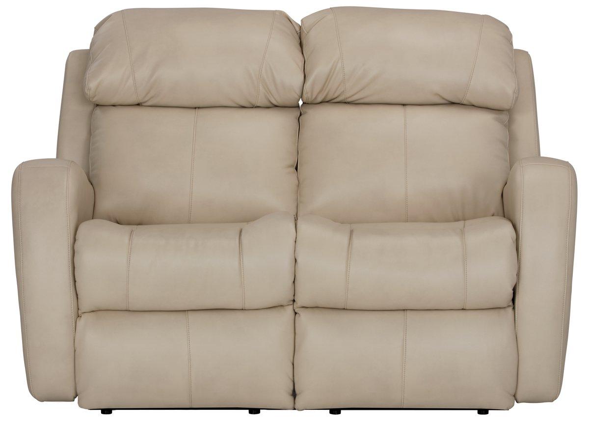 City Furniture Finn Lt Beige Microfiber Power Reclining Loveseat ~ Motorized Reclining Sofa