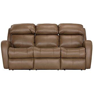 Finn Brown Microfiber Reclining Sofa