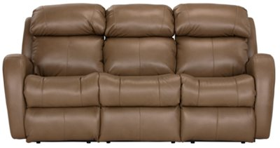 Superieur Finn Brown Microfiber Reclining Sofa