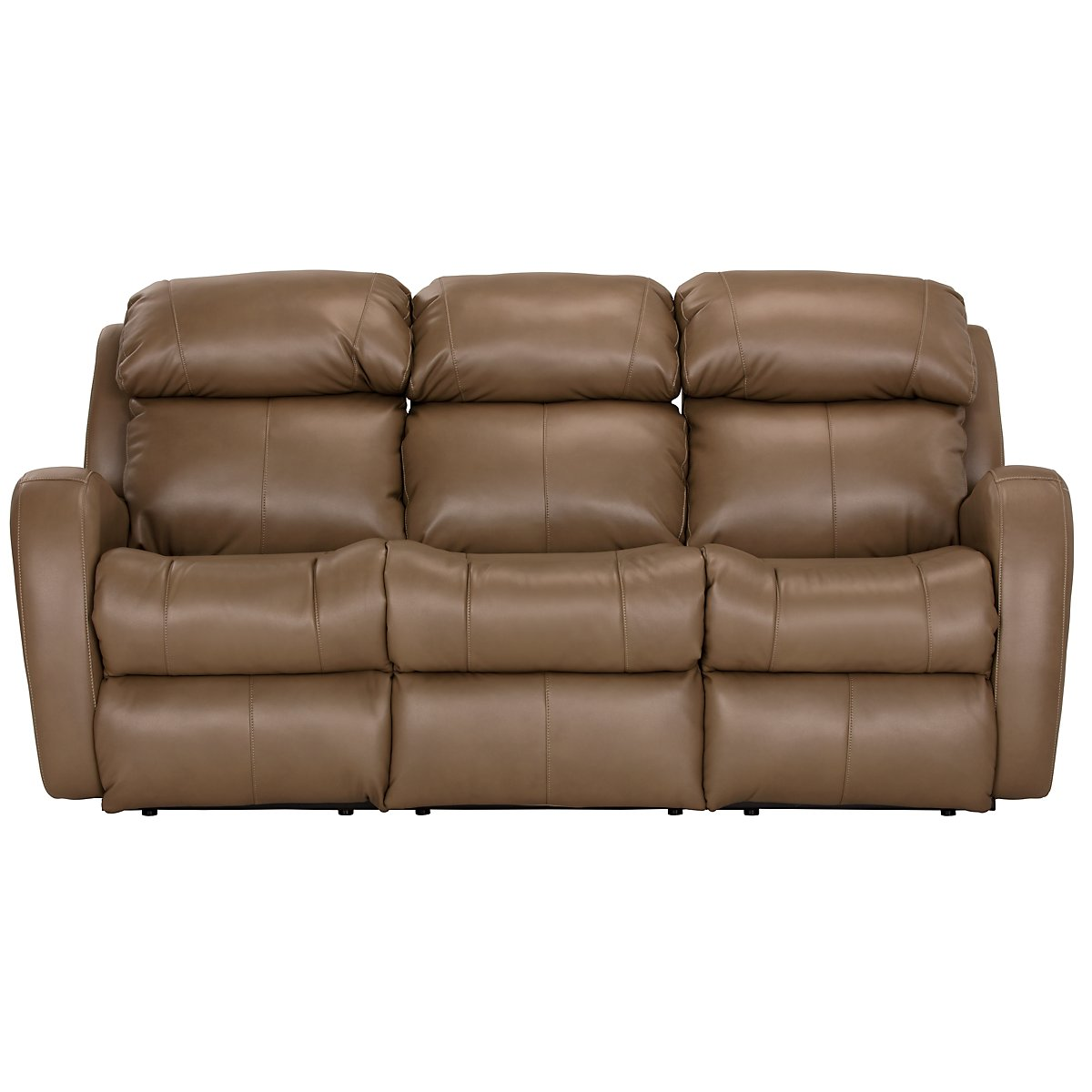 City Furniture Finn Brown Microfiber Power Reclining Sofa