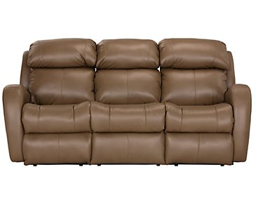 Finn Brown Microfiber Power Reclining Sofa