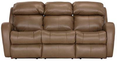finn brown microfiber power reclining sofa