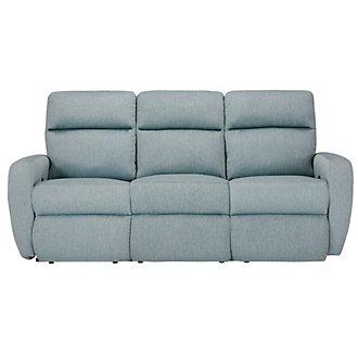 Destin Light Teal Reclining Sofa