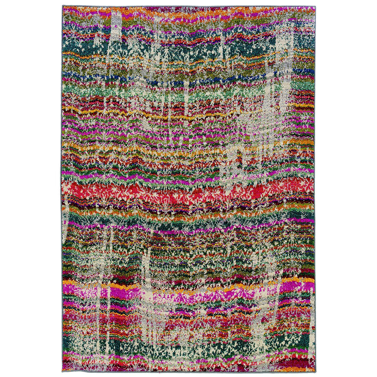Kaleidoscop Multicolored 5x8 Area Rug