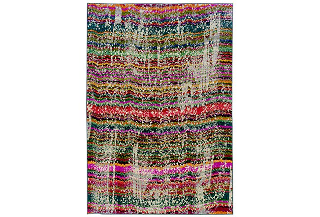 Kaleidoscop Multicolored Poly 5x8 Area Rug