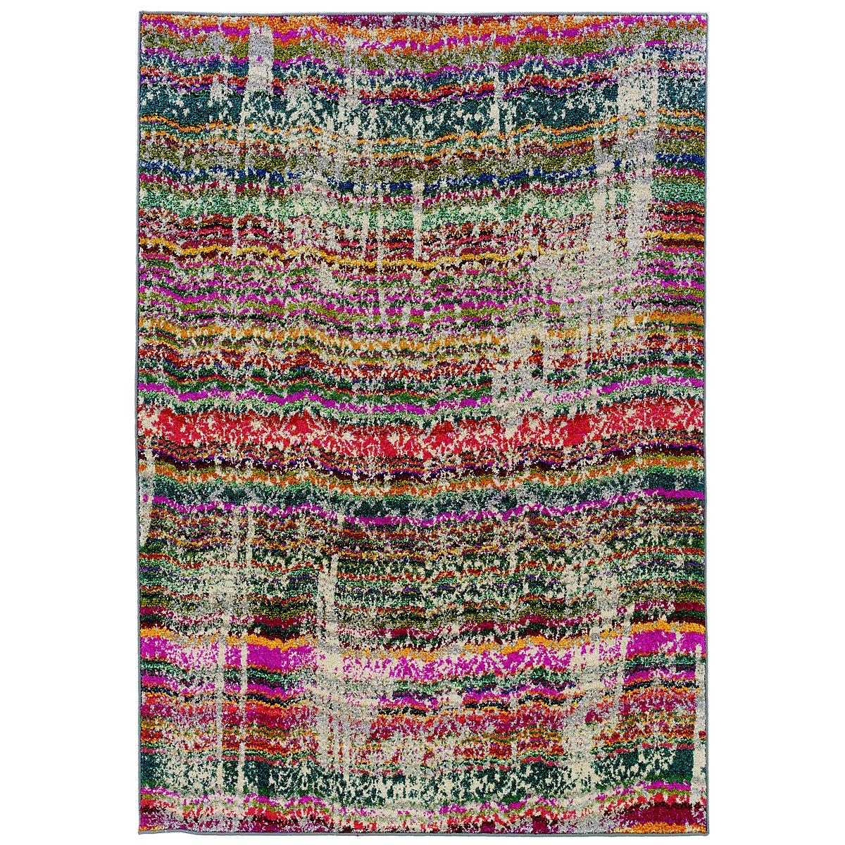 Kaleidoscop Multicolored 8x11 Area Rug