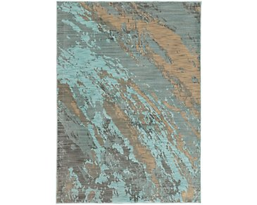 Sedona Light Blue 8X11 Area Rug