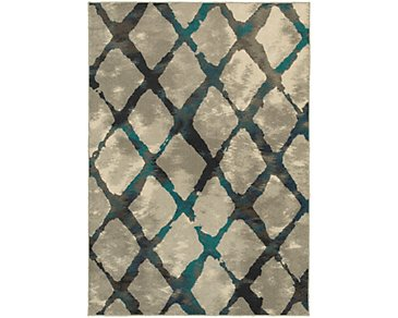 Highlands Teal 5X8 Area Rug