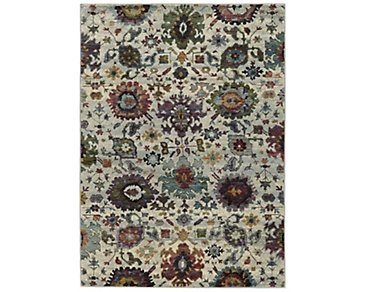 Adrina Multicolored 5X8 Area Rug