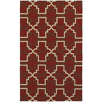 Atrium Red Indoor/Outdoor 8x11 Area Rug