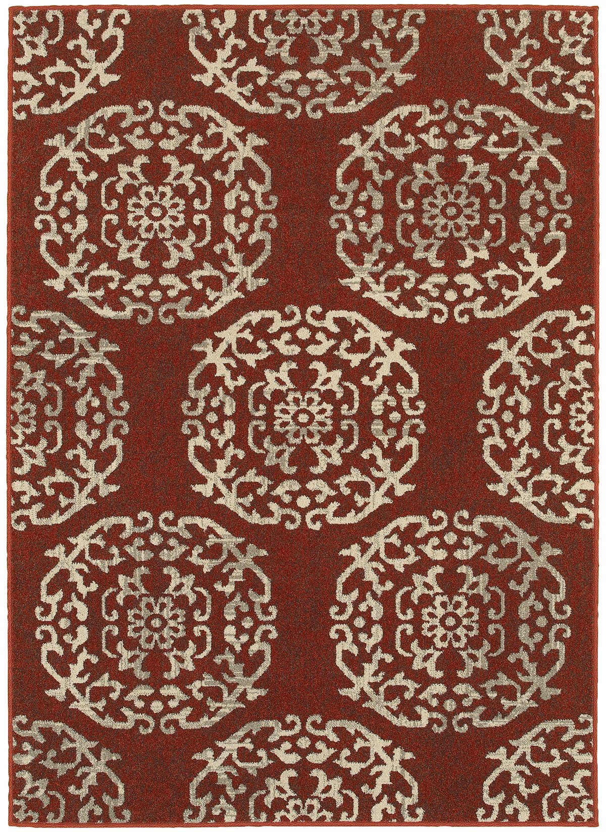 Highlands Red Poly 8x11 Area Rug