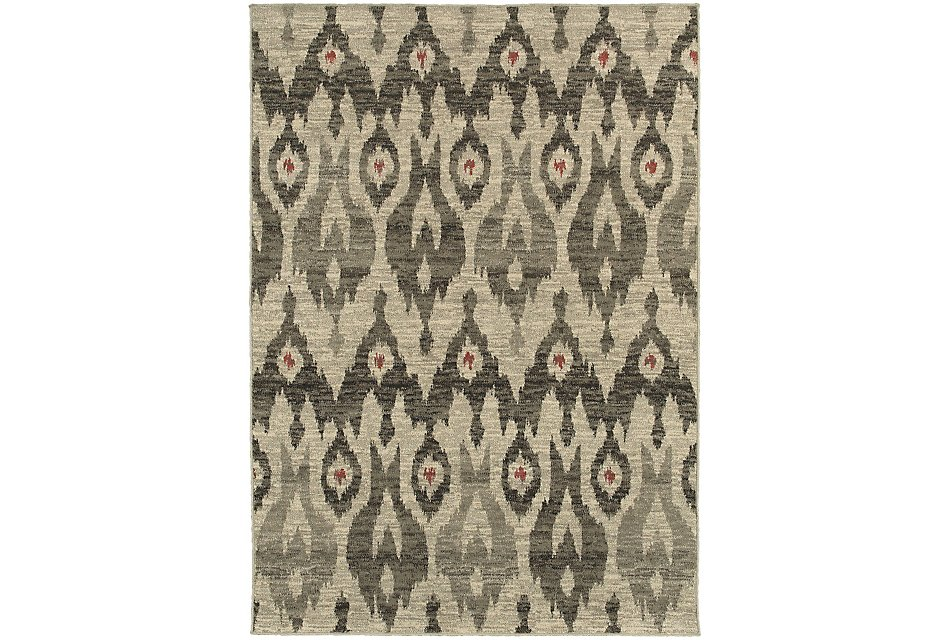 Highlands Gray Poly 5x8 Area Rug