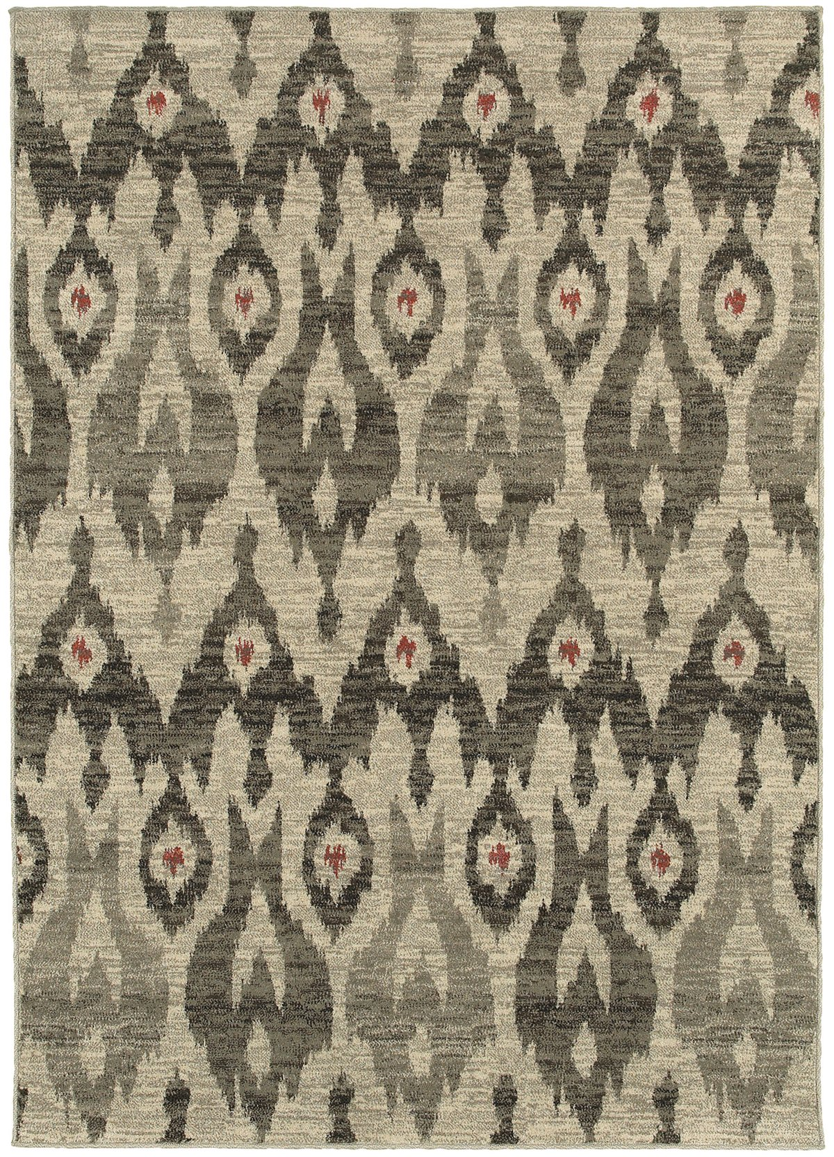 Highlands Gray Poly 8x11 Area Rug