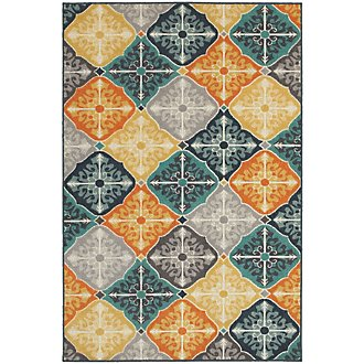 Hammel Multicolored Indoor/Outdoor 8x11 Area Rug
