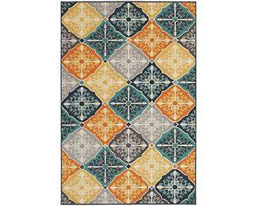 Hammel Multicolored Indoor/Outdoor 8x11 Area Rug