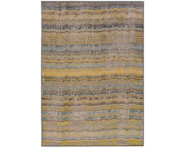 Kaleidoscop Yellow 8X11 Area Rug