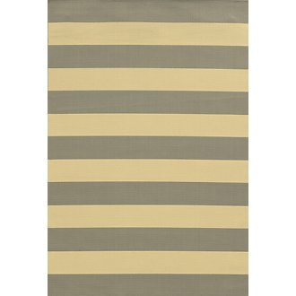 Riviera Gray Indoor/Outdoor 8x11 Area Rug