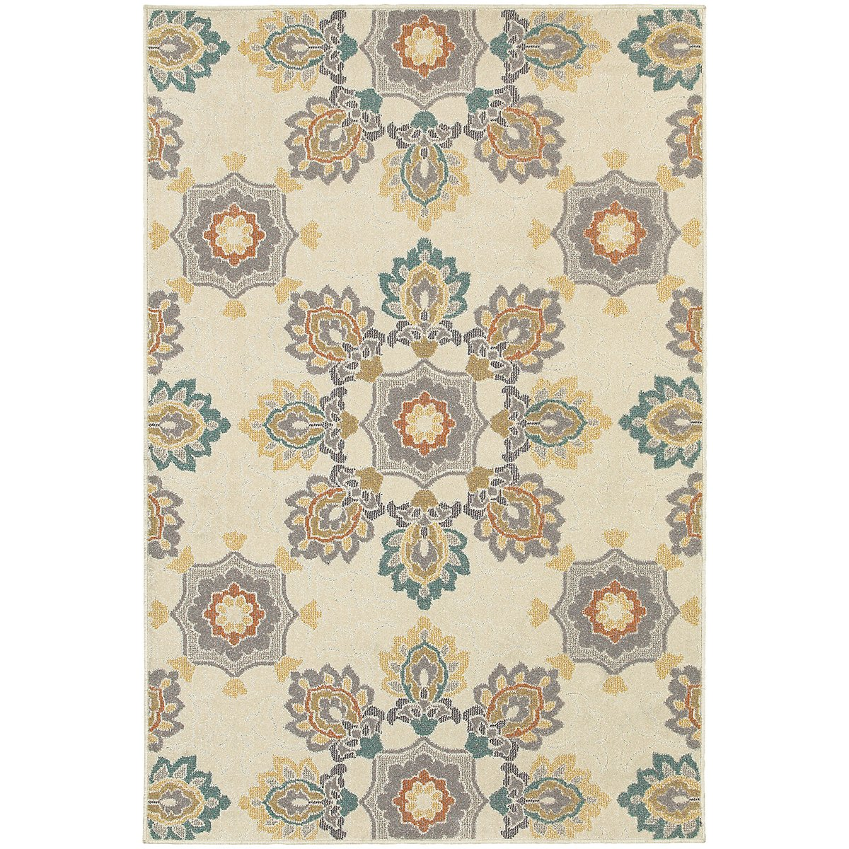 Hampton Multicolored Poly Indoor/Outdoor 5x8 Area Rug