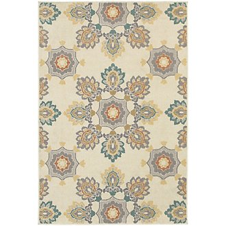 Hampton Multicolored Indoor/Outdoor 5x8 Area Rug