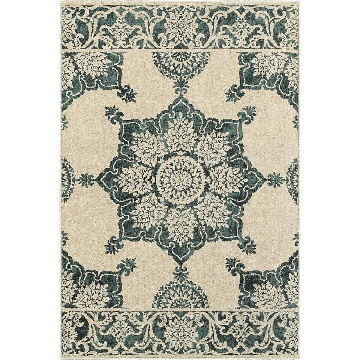 Jacob Dark Blue 5X8 Area Rug