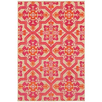 Cayman Pink Indoor/Outdoor 5x8 Area Rug