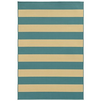 Riviera Light Blue Indoor/Outdoor 5x8 Area Rug