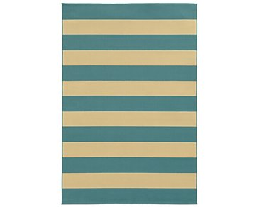 Riviera Light Blue Indoor/Outdoor 8x11 Area Rug